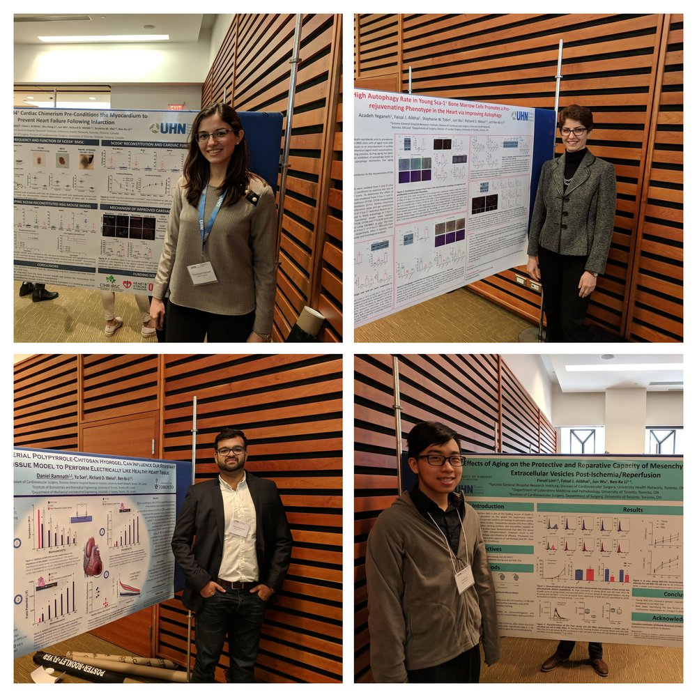 Tina, Azadeh, Dan and Fievel presented their posters at the Toronto General Hospital Research Institute Annual Research Day, this year taking place at the Toronto Reference Library. October 17th, 2018.