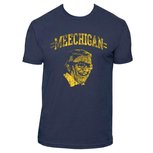 MEECHIGAN – Navy - 100% Premium Fitted Cotton T-Shirt. Available in unisex sizes S – 3XL.