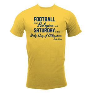 Football Religion – Maize - Basic 100% Cotton Tee. Available in unisex sizes S – 3XL.