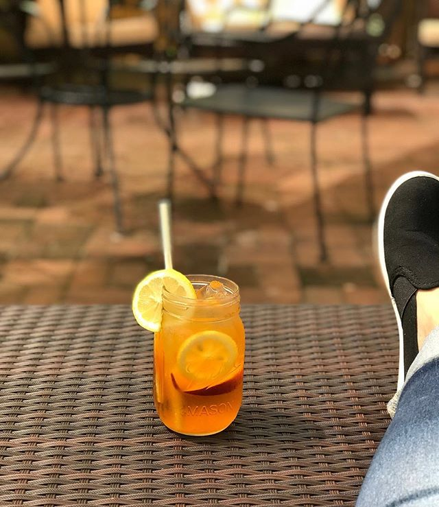 Happy Monday! Today our drink special is a very refreshing Southern Peach Tea. We use Ketel One Citron, Peach schnapps, sweet tea, and Gran Gala soaked peach slices. Yum!