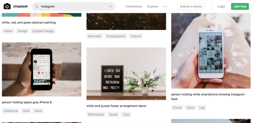 The easy-to-use desktop version of Unsplash's platform is a dream to use.