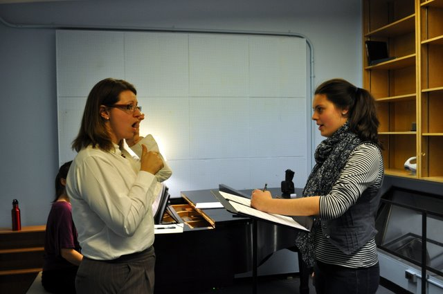 Teaching mezzo soprano Emily D'Angelo at the University of Toronto.