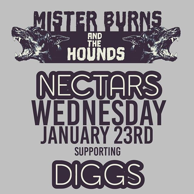 It's Wednesday my dudes! Tonight is round 2 of our @nectarsvt residency! Catch us with @misterburnsvt kicking off the night at 9pm #getwiththecrew #livehiphop  #burnwiththecrew #thehounds #nectars #residency