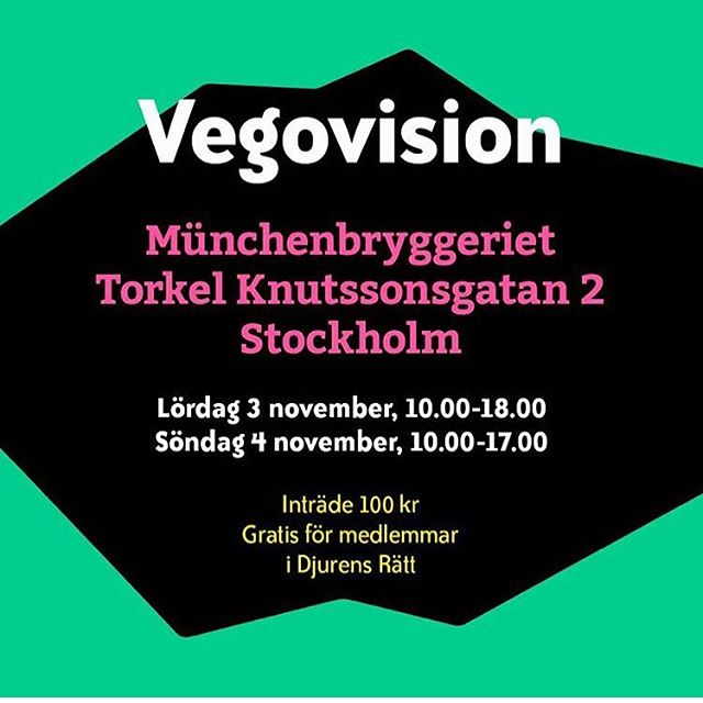 Vi ställer ut på @vegovision!  Kom gärna förbi och säg hej och prova vår mozzarella!