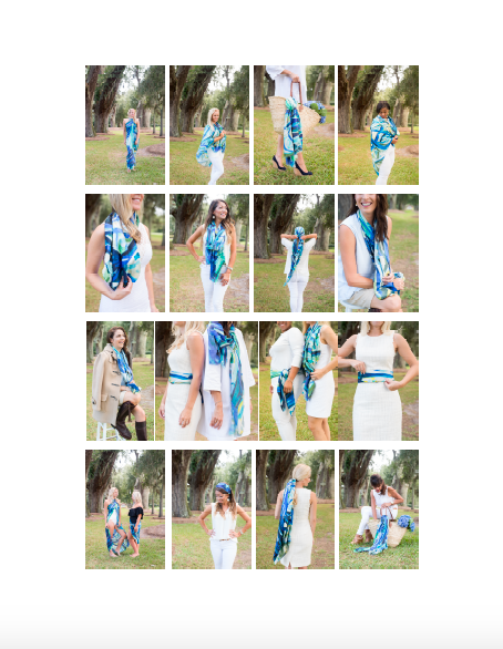 JWAGI Scarf - Ways to Wear Collage