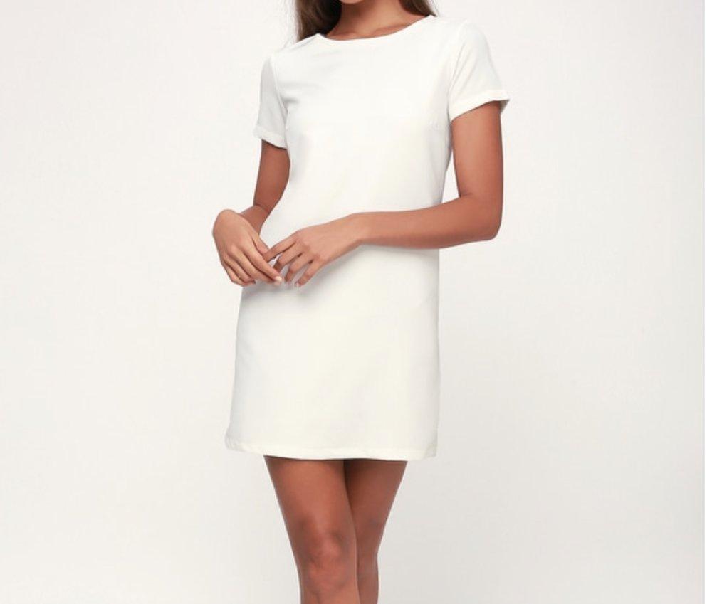 Chic Ivory Shift Dress by Lulu's