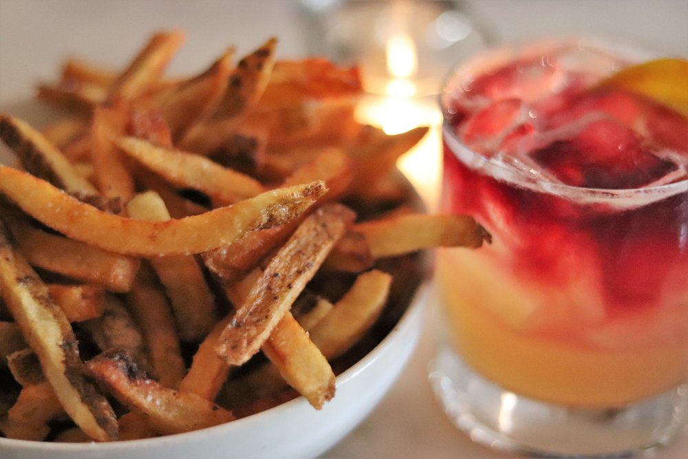 Hand Cut French Fries with Aiol