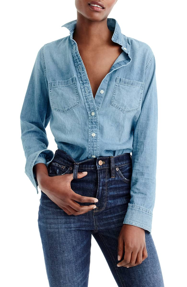 J. Crew Jean Button Down