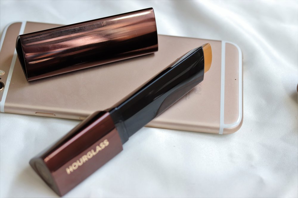 Hourglass Foundation - I prefer a full coverage foundation for night time and special occasions, this is buildable medium to full. I am still looking for a good primer to use under this, it went on well with a kabuki brush which was a surprise because of the thick consistency and I'm so excited about the convenient packaging for travel.Shade -Warm Honey