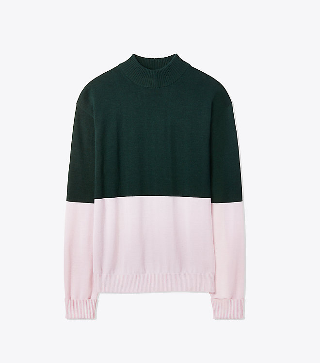 Performance Cashmere Two Toned Sweater -