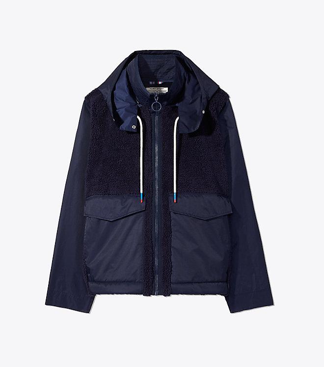 Sherpa Fleece Hooded Field Jacket -