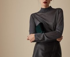 Metallic Turtle Neck - by REISS