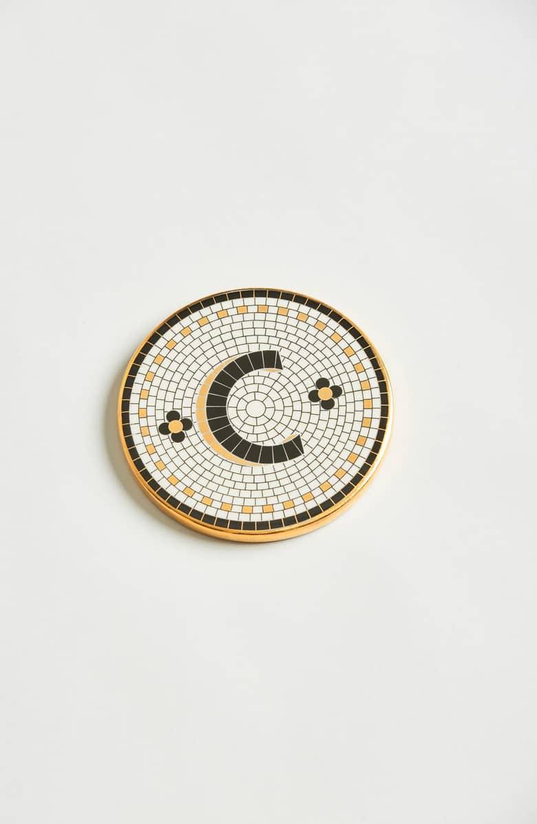 Bistro Monogram Coaster - Anthropologie