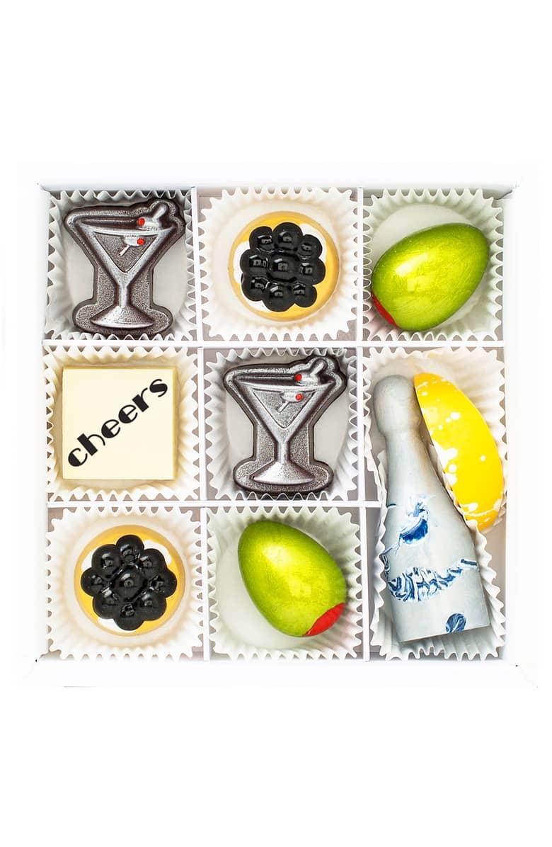 Cocktails & Caviar 9-Piece Chocolate Set - Maggie Louise Confections