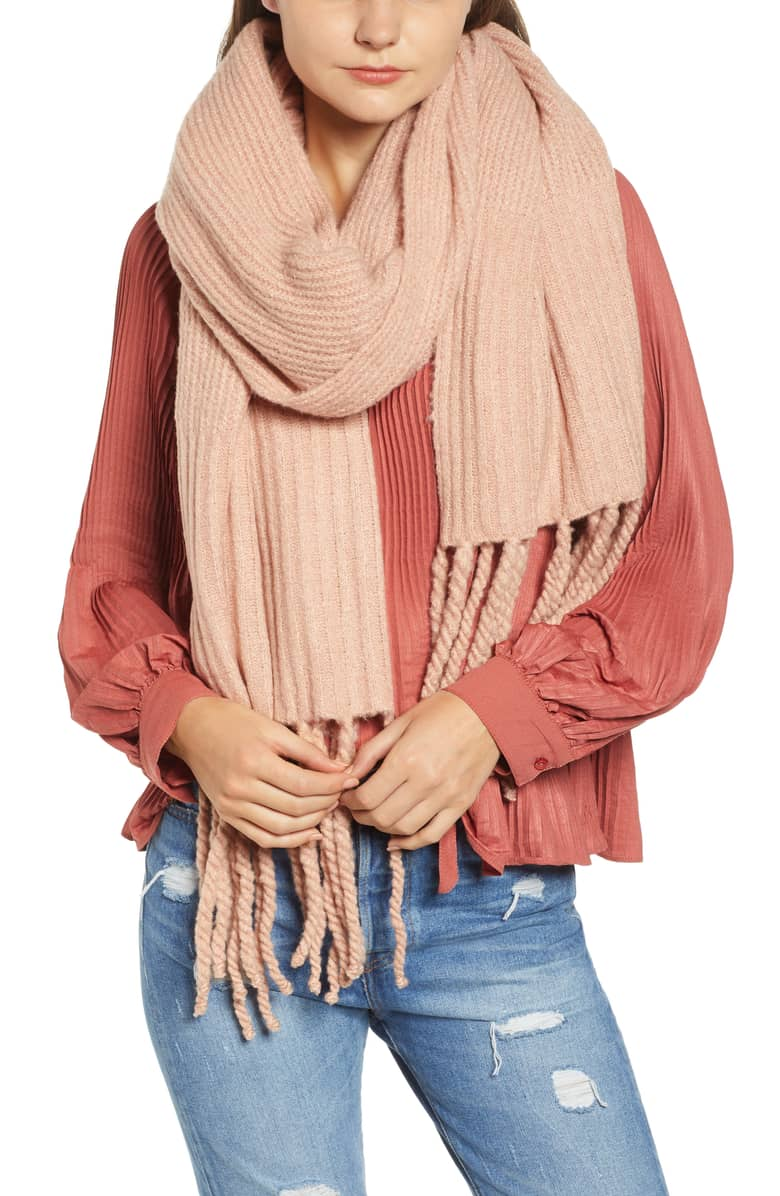 Jaden Rib Knit Blanket Scarf - Free People