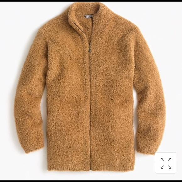Point Sur Fuzzy Cardigan Jacket - J. Crew