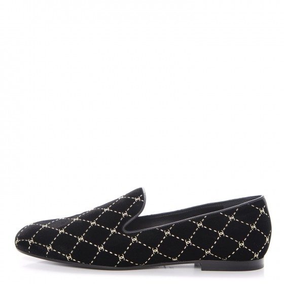 Velvet Moccasin Loafer - Chanel