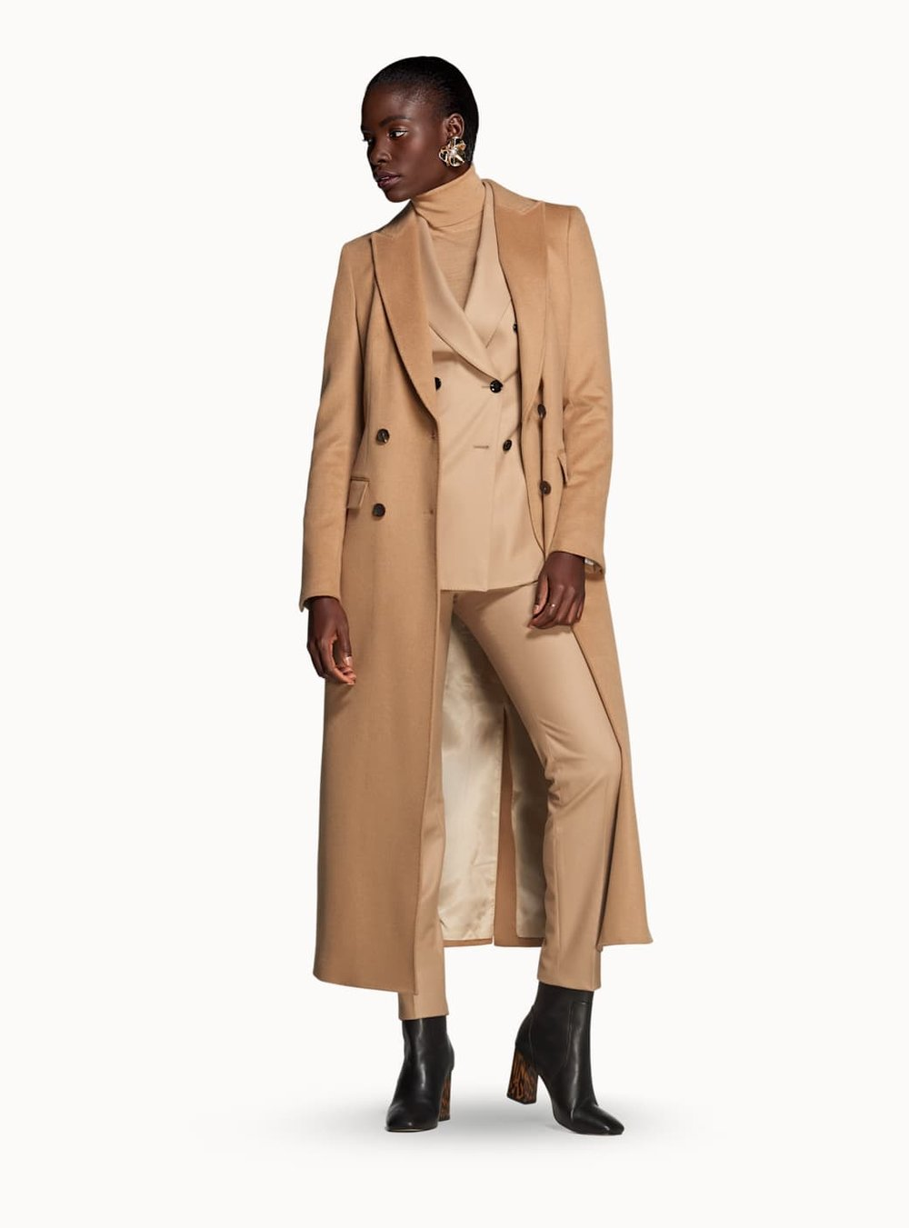 Anna Camel Double Breasted Coat -