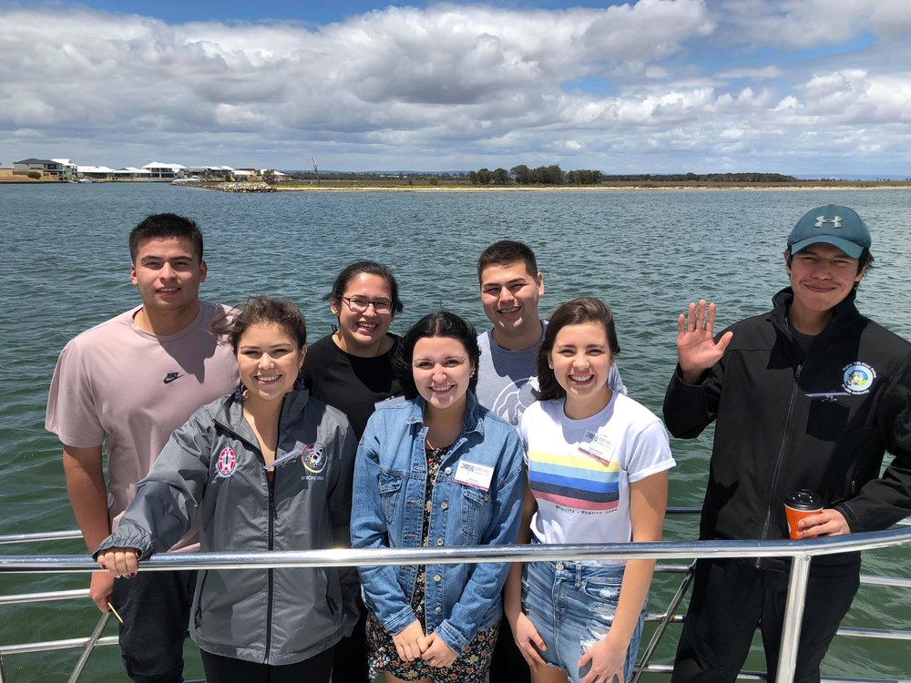 Group on boat cruise called Dreamtime Cruise