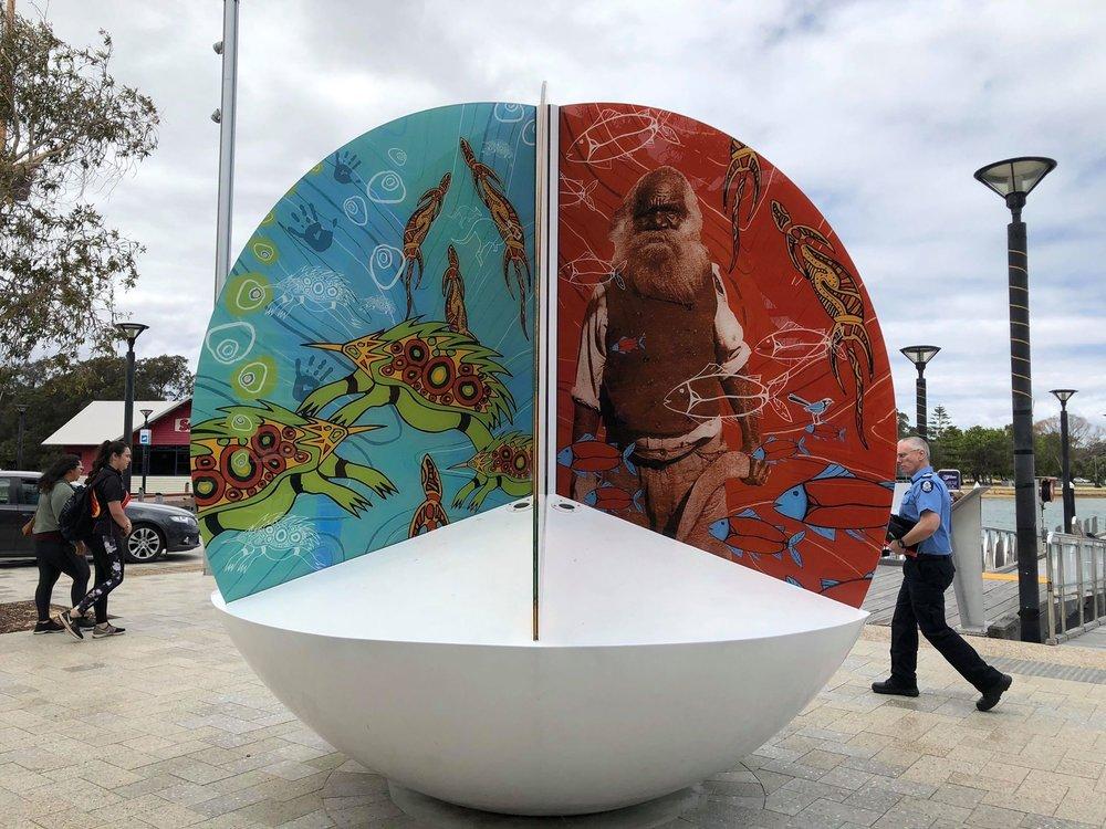 Piece of artwork from Mandjar Square