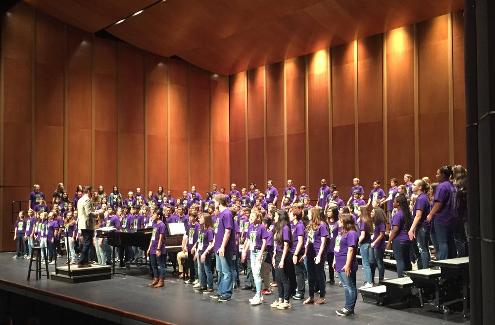 Members of the 2016 Middle School Honor Choir in Virginia Beach