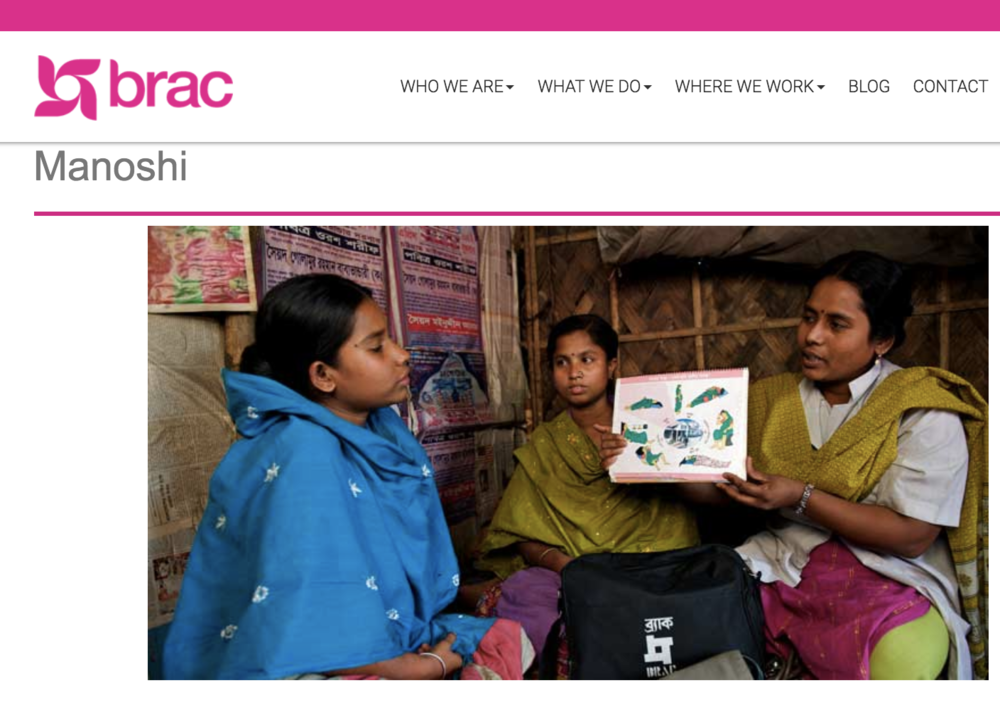 BRAC launched the Manoshi project to improve maternal and neonatal health in Bangladeshi slums. Source: BRAC