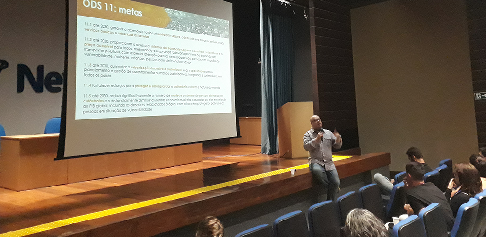 A presentation at the SDG in Action event, held October 8 in Belo Horizonte. Source: Cid Blanco