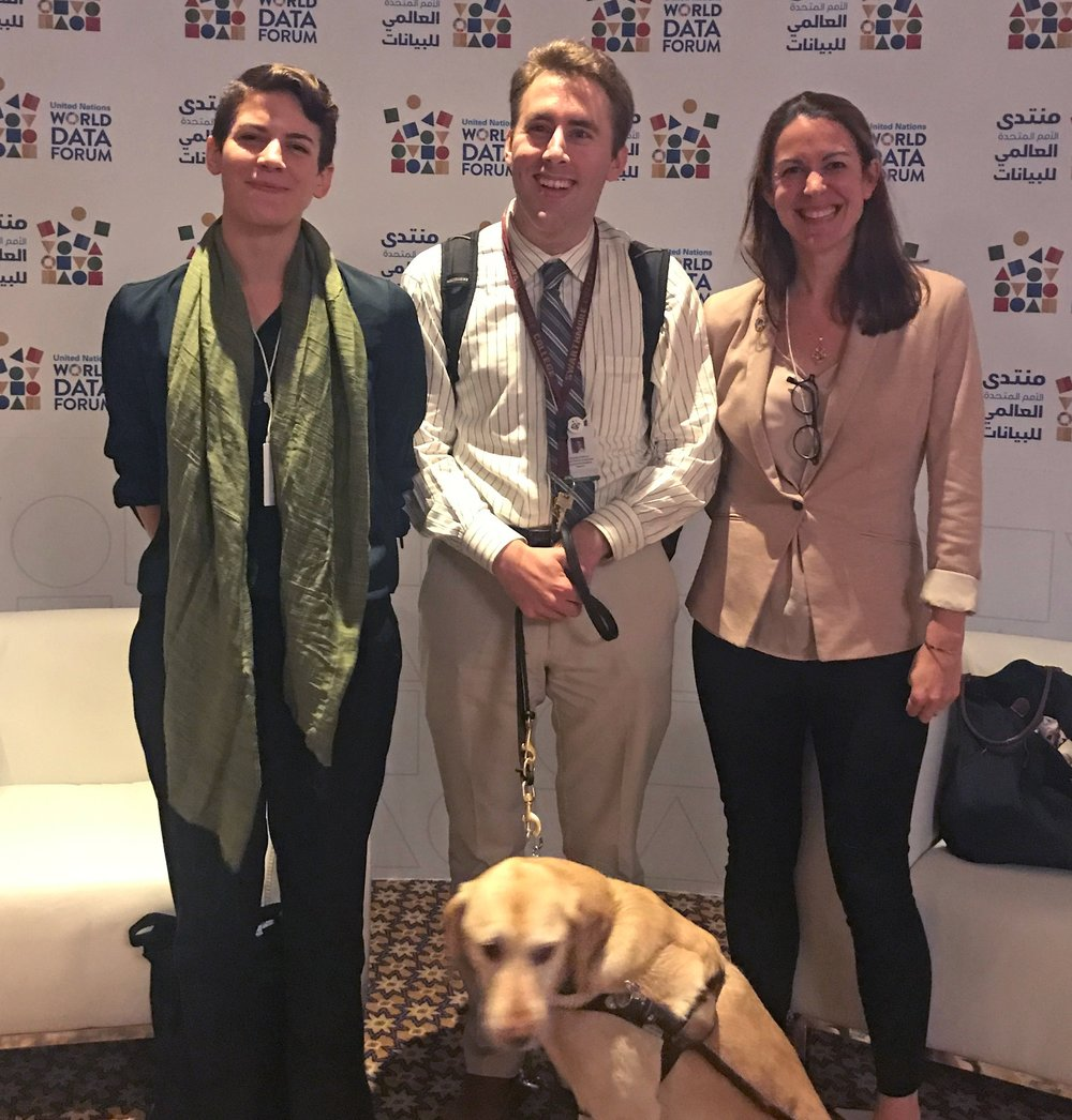 TReNDS staff at the UN World Data Forum, held in Dubai in October 2018. Click through to read more about the event.