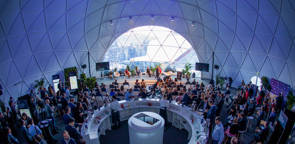 The Blockchain + AI + Human Summit 2019 in Davos, Switzerland.  Source : John Werner