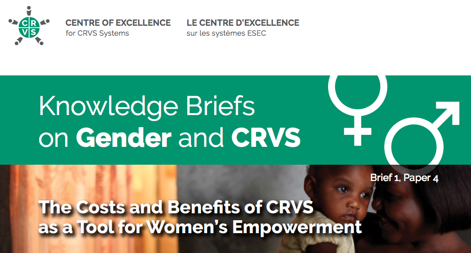 In a new report, TReNDS illustrates the return on investment for women and girls when resources are put towards CRVS.    Source   : Centre of Excellence for CRVS Systems; Dominic Chavez/World Bank