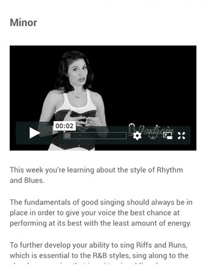 A lesson a day, rest days included   This course is designed to remove all excuses and make you a better singer. Day by day. Step by step. Easy to follow.