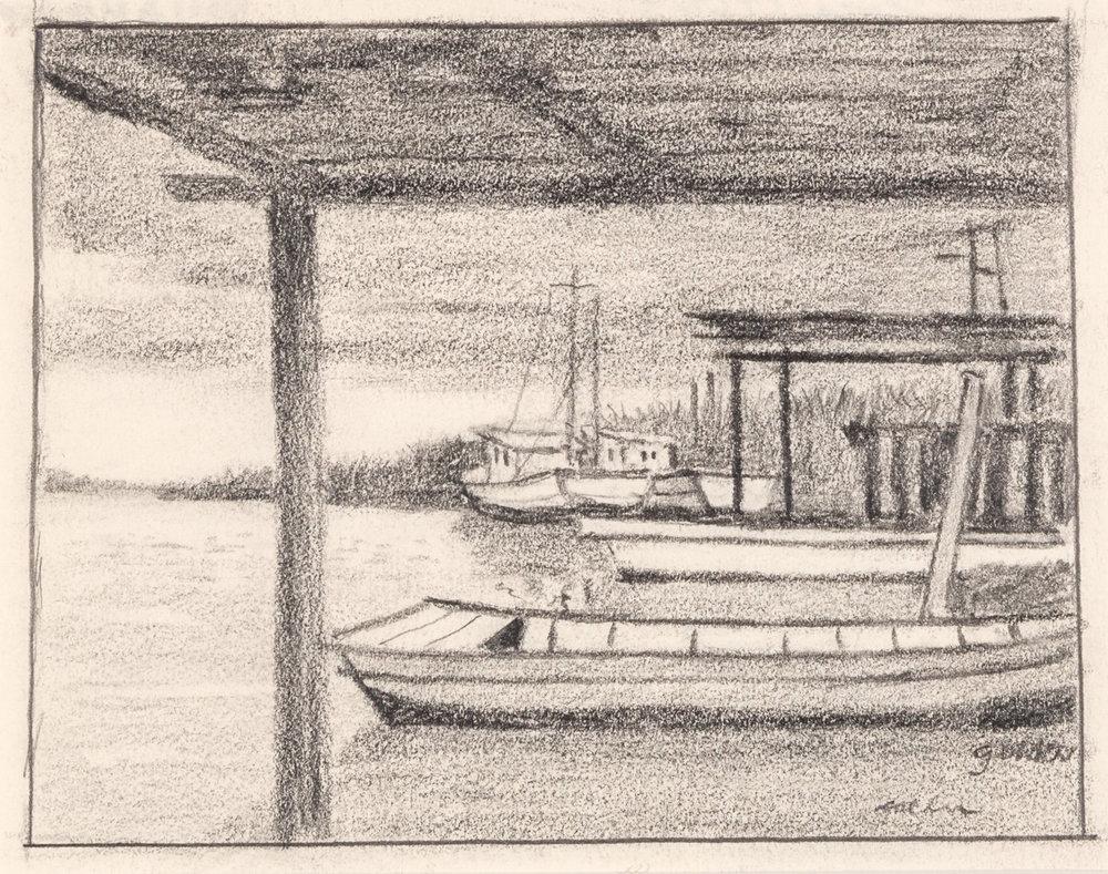 Untitled - South Louisiana Boats (circa 1960s)