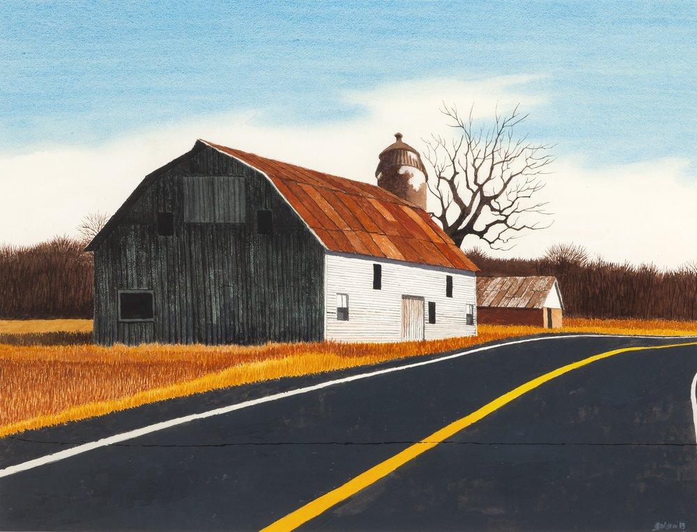 Sunlight on the Barn (2013)