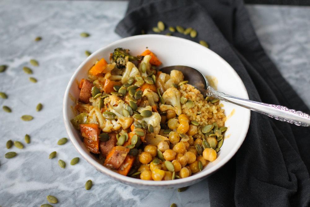 Easy meal prepped grain bowl recipe -
