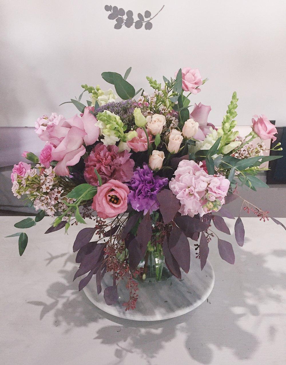 Bohemian tone in tone vase - custom order