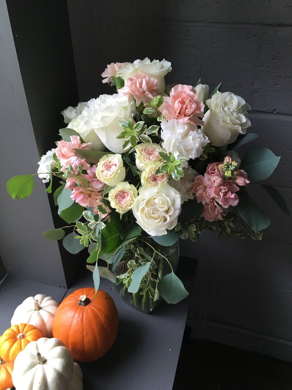 Pink and peachy vase - custom order