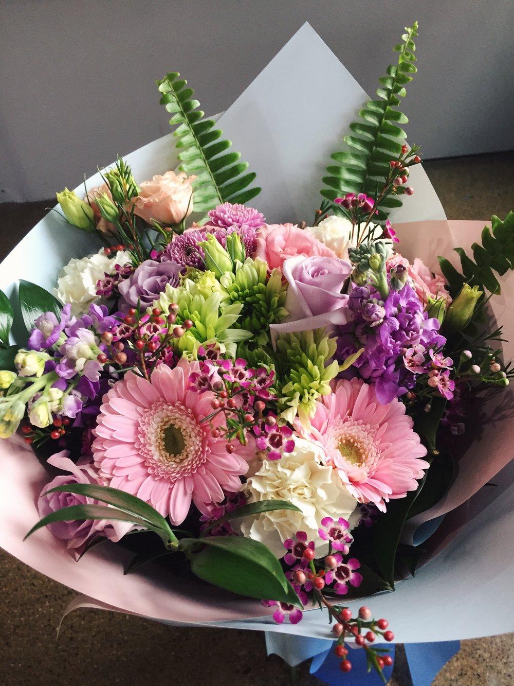 Pastel flower bouquet Florescence Flower Studio