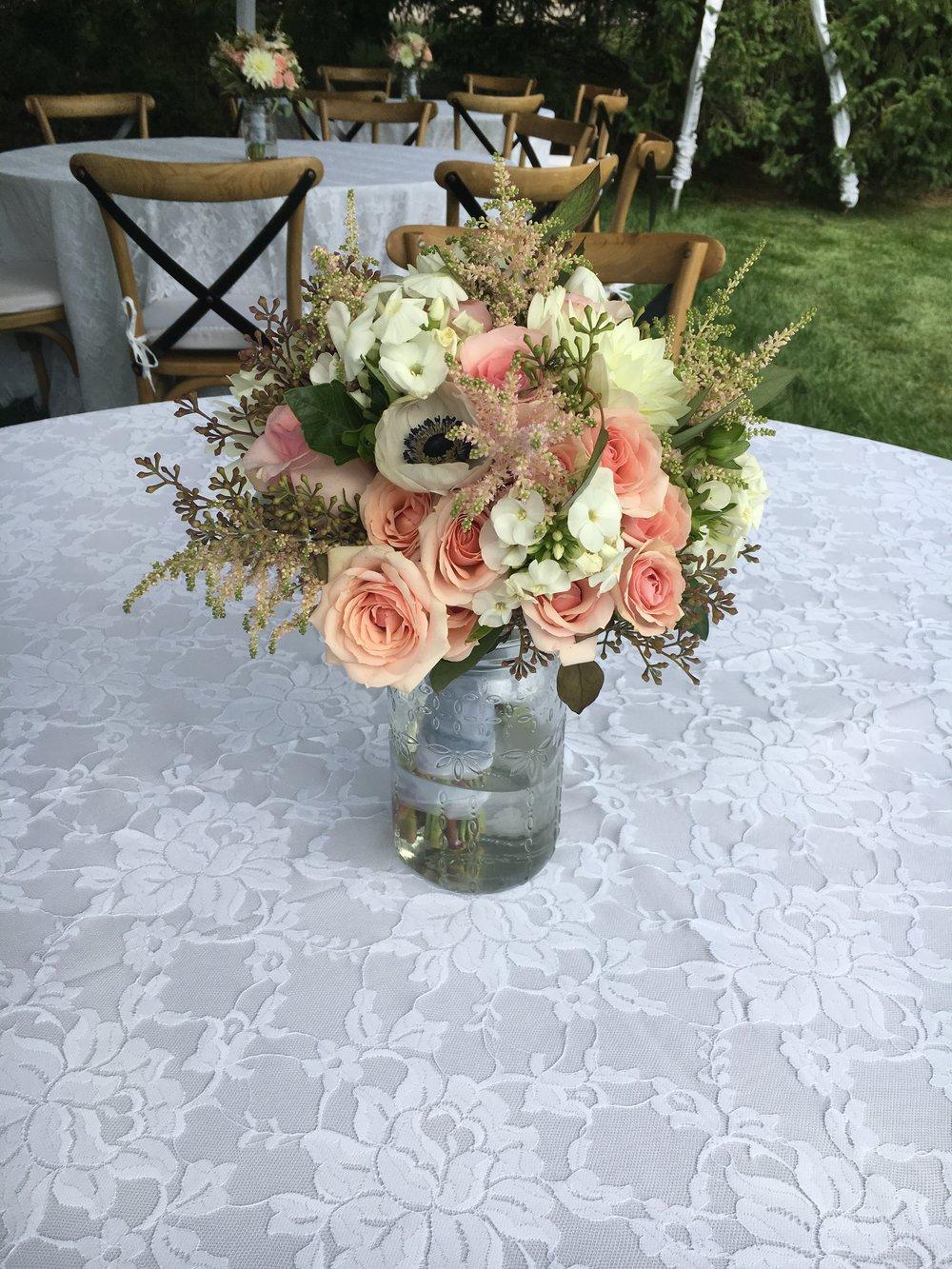 Florescence Flower Studio Event centerpieces