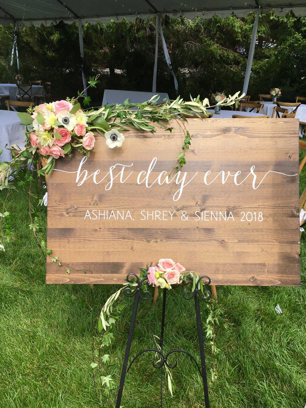 Florescence Flower Studio Event board decor