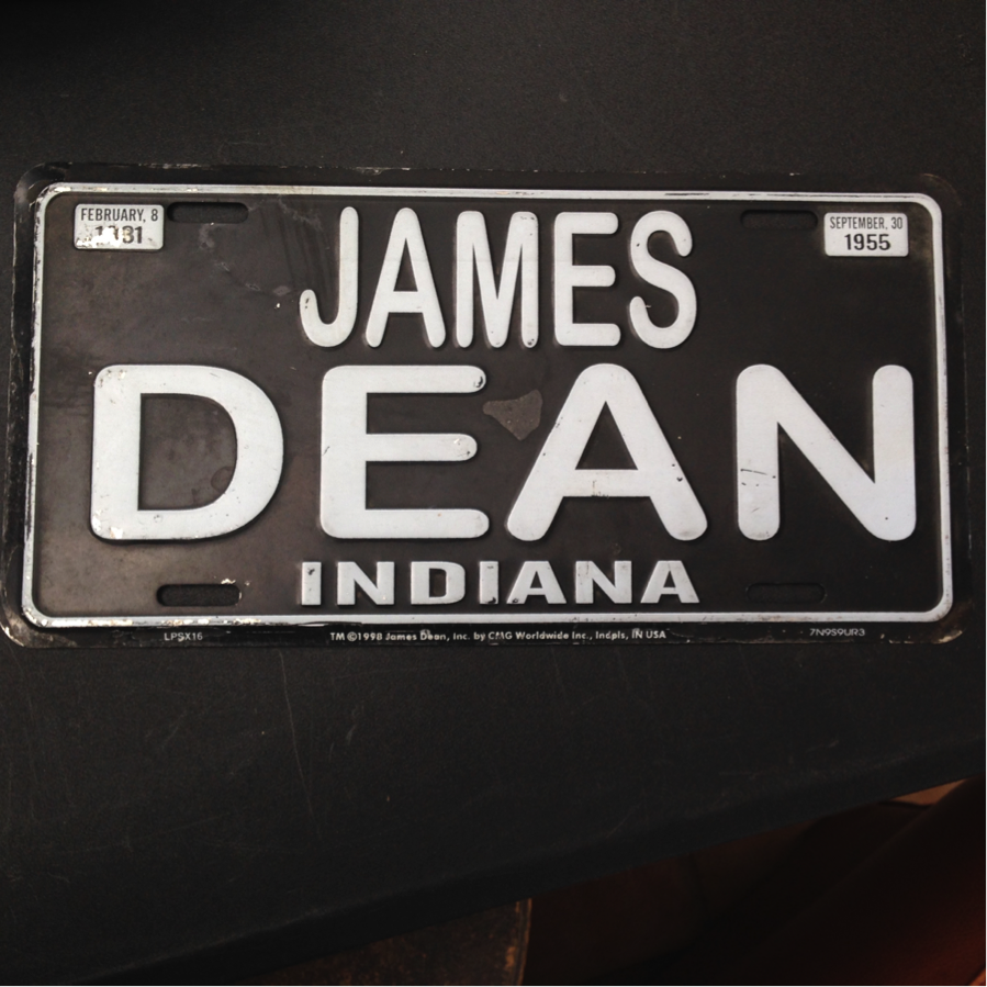 James Dean License Plate.png