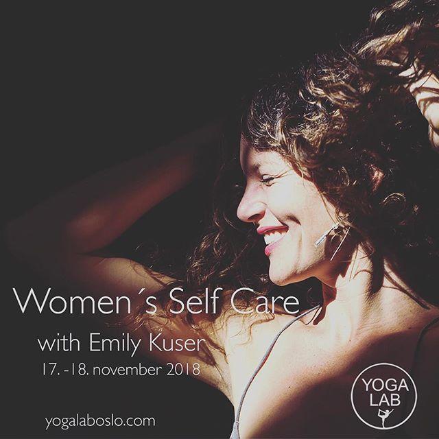 Woman's self care with Emily Kuser 17.-18. November! ♥️ les mer på vår nettside. Velkommen! #yogalab #yogalaboslo #yoga #womanhood #highvibetribe #lhov