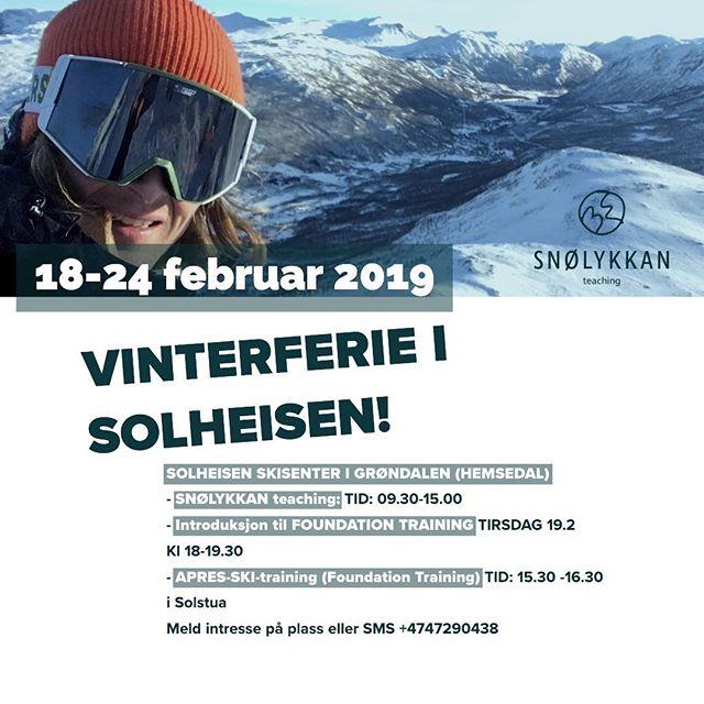 Hei ❄️❄️❄️ Vinterferie for @oslo! Skiskole @solheisen med @snolykkan og solheisencrew. Gleder meg til å vise fler øvelser fra @foundationtraining og demonstrere hvordan dette integreres i skikjøring og på brett. Det blir pløtsligt fullt så best og være ute i tide. Reservasjoner med Snølykkan direkte på www.snolykkan.com . . . #oslonorway #norway #vinterferie #uke8 #solheisen #snolykkan #hemsedal #hemsedalsfjellet #hemsedalcom #grøndalen