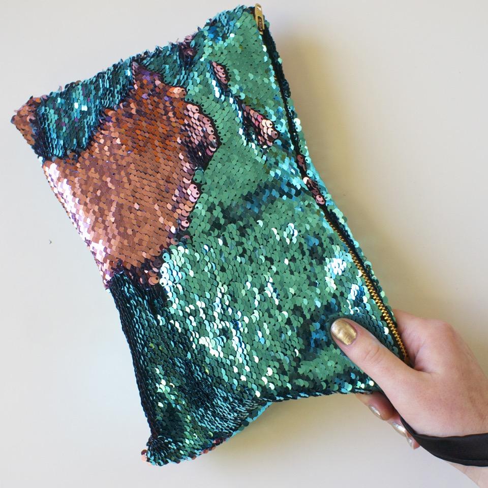 Emma Dee Sequin Clutch Bag