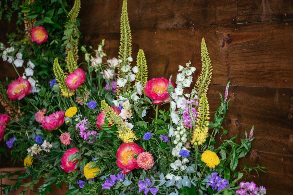 Flower wall of dreams by Wilderness Flowers