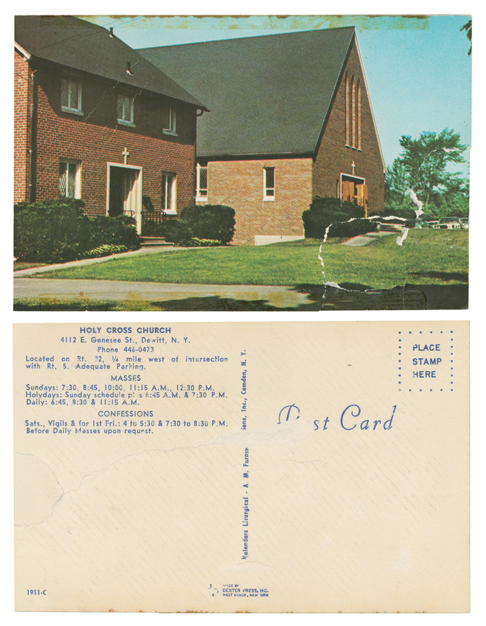 Postcard of Church and Rectory