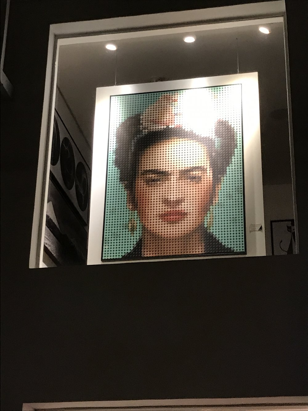 Frida collage, on the streets of São Paulo, Brazil