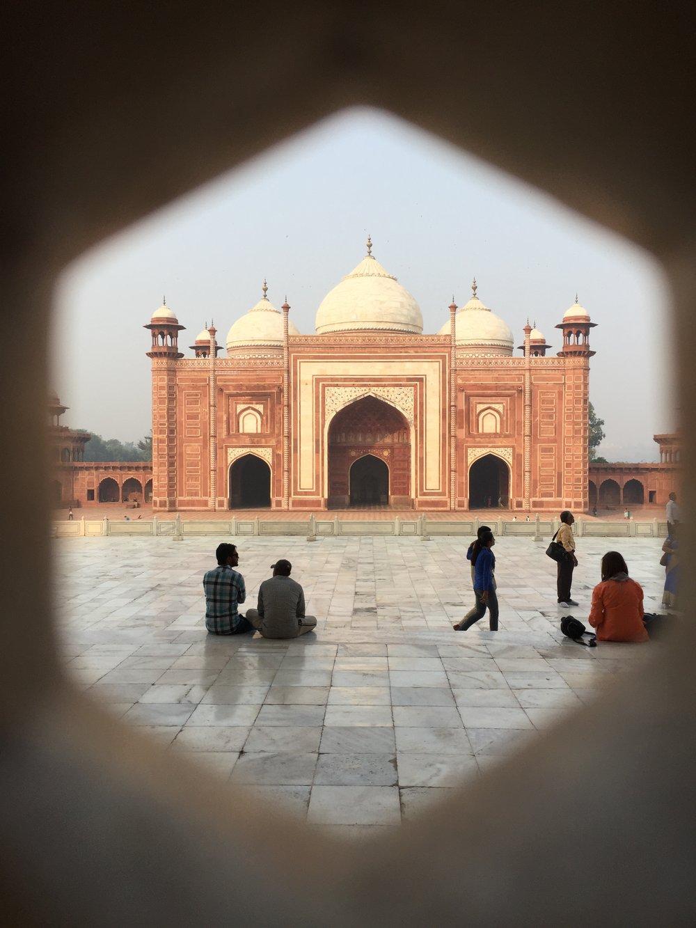 Inside Taj Mahal complex
