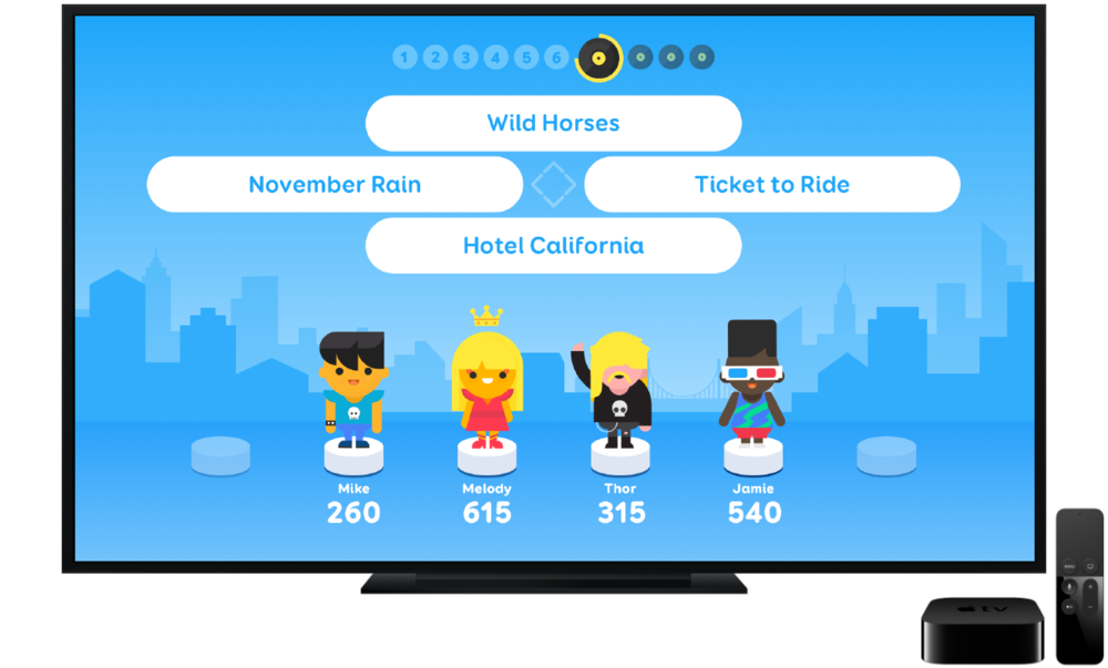 A new Twist on SongPop - Original SongPop gameplay, enjoyed by more than 100M players, re-imagined for your living room.