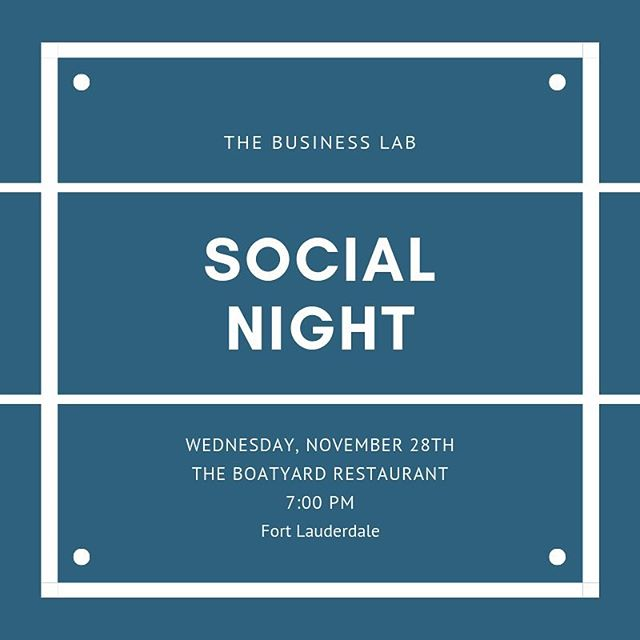 Join us this Wednesday on the patio of The Boatyard for a casual evening of connecting with other local professionals. #businesslabftl #fortlauderdale #miami #fortlauderdaleprofessionals #businessgrowth #success #networking #professionaldevelopment #southflorida