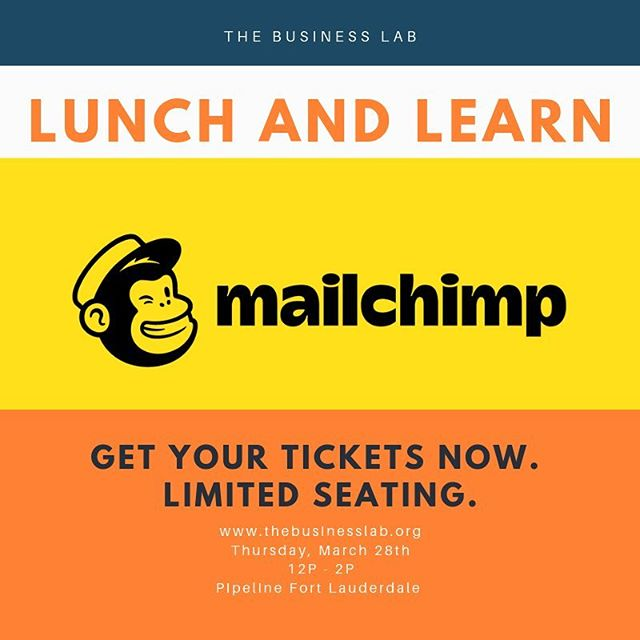 You requested it- you got it! 🎉 Join us on Thursday March 28th for lunch and a hands-on Mailchimp tutorial. Only 10 seats available- first come, first serve- get your tickets now. #linkinbio  #businesslabftl #fortlauderdale #miami #fortlauderdaleprofessionals #businessgrowth #success #networking #professionaldevelopment #mailchimp #lunchandlearn